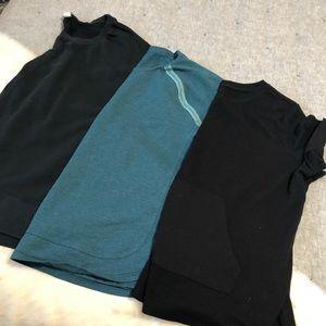 Active wear terry cloth 3 short sleeves bundle XXL